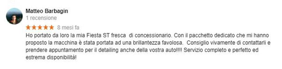 Recensione Matteo Barbagin
