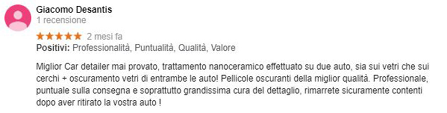 Recensione Giacomo De Santis