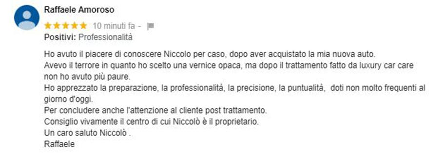 Recensione Raffaele Amoroso